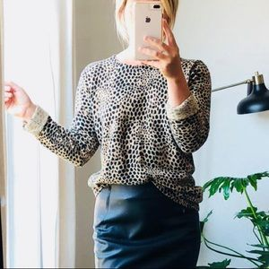 Vintage Sweaters - Angora Blend Sweater // animal print